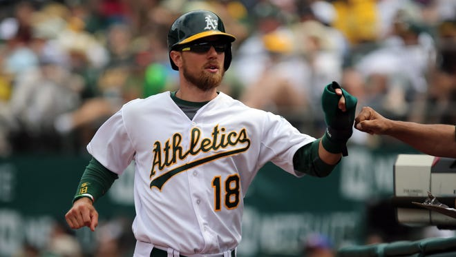 Ben Zobrist spent just one season with the Athletics.