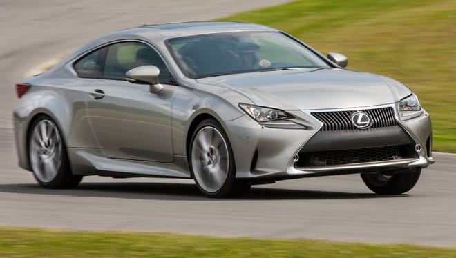 The Lexus RC goes through its paces.