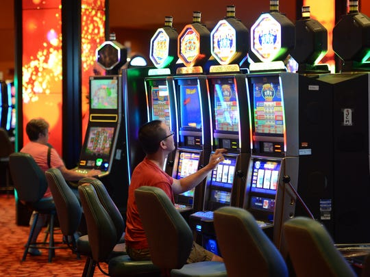 A view of the new smoke-free slots room at the Oneida Casino on Wednesday.
