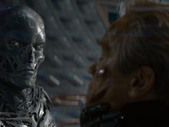 Series T- Robot runs up against Arnold Schwarzenegger's
