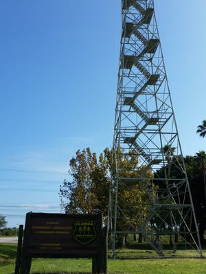 The Orange River Lookout Tower  next to Manatee Park was acquired in 1961.