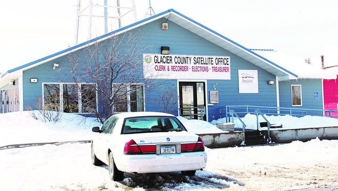 The site of Glacier County's Satellite office in Browning was vacated Tuesday after lease negotiations for the building could not be resolved