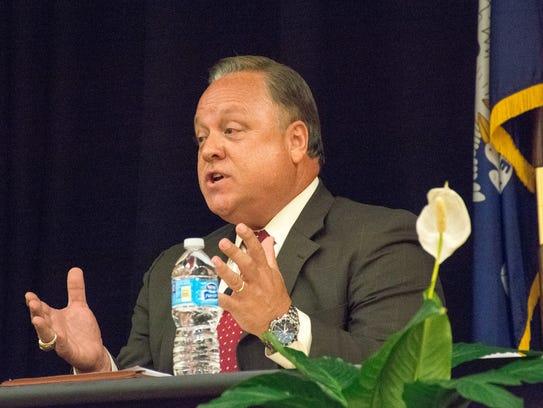 CAO Dee Stanley participates in a city-parish president