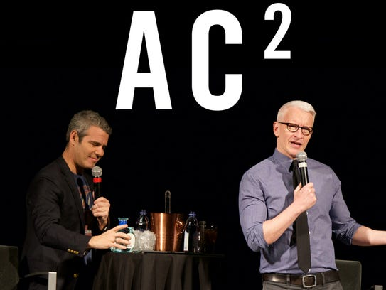 Andy Cohen, left, and Anderson Cooper