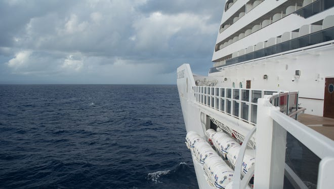 While it doesn't go all the way forward (access is restricted by the MSC Aurea Spa), it does offer a glimpse of the ship's powerful bow.