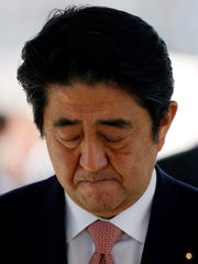 Japan's Prime Minister Shinzo Abe visited the tomb