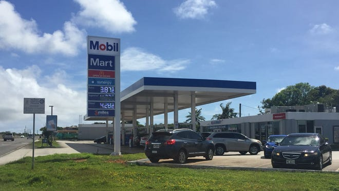 Gas prices have risen at Mobil stations on Jan. 1, 2018.