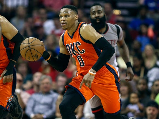 99. Russell Westbrook (March 26 vs. Rockets) - 39 points,