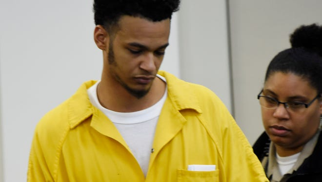 Opry Mills shooting suspect Justin Golson arrives for his preliminary hearing in General Sessions Court Thursday, May 10, 2018, in Nashville, Tenn.