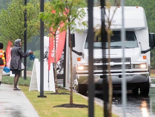 Shuttles run between the National Memorial for Peace