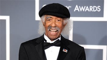 Gerald Wilson arrives at the 54th annual Grammy Awards in Los Angeles. Wilson, the dynamic jazz big band leader, composer and arranger whose career spanned more than 75 years, died Monday.