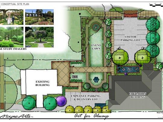 Site concept for LeMoyne Visual Arts Center event space
