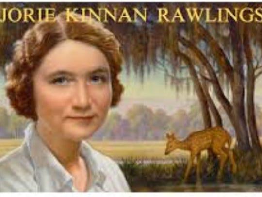 A U.S. postage stamp honoring Marjorie Kinnan Rawlings