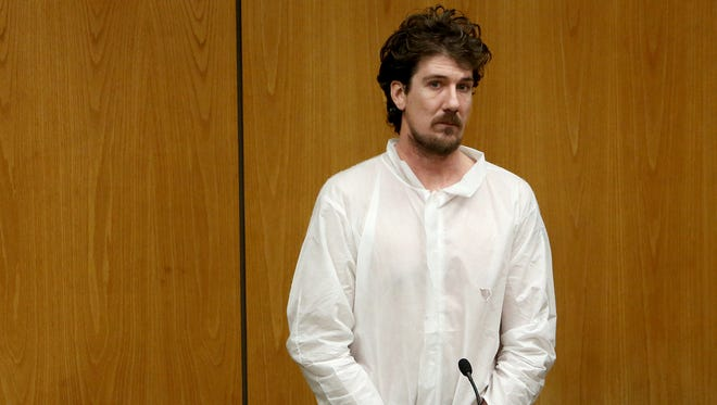 Scott Wobbe during his arraignment in 2014 in the murder of his 22-year-old girlfriend Theresa DeKeyzer.