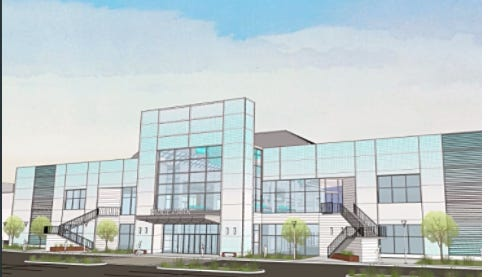 A rendering of the south side of the former Irondequoit Mall/Medley Centre included in an invitation to an Aug. 29 announcement about the site's future.