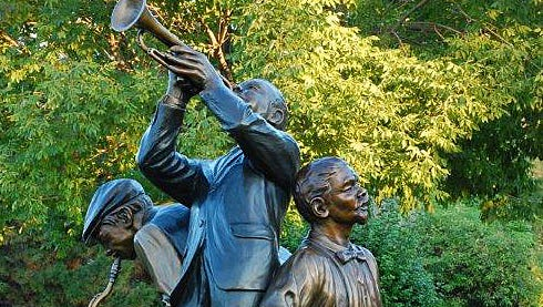 """A 79-inch bronze statue titled """"Jazz"""" will join several others in Fairfield's Village Green Park campus and Town Center."""