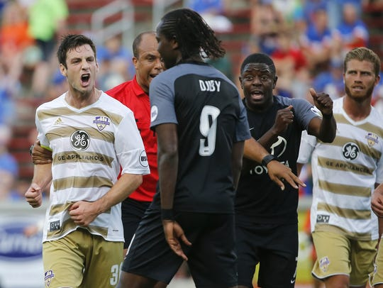 Louisville City FC midfielder Paolo Delpiccolo (36),