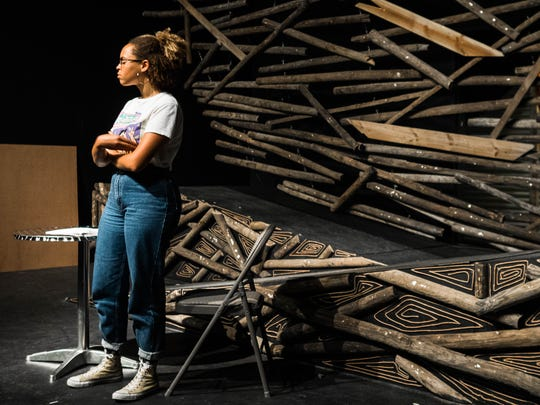 Maya Snead inhabits the role of Zora Neale Hurston, in Indian River Charter High School's prouction inspired by the unlikely friendship betwen the acclaimed writer and Vero's own Waldo Sexton.