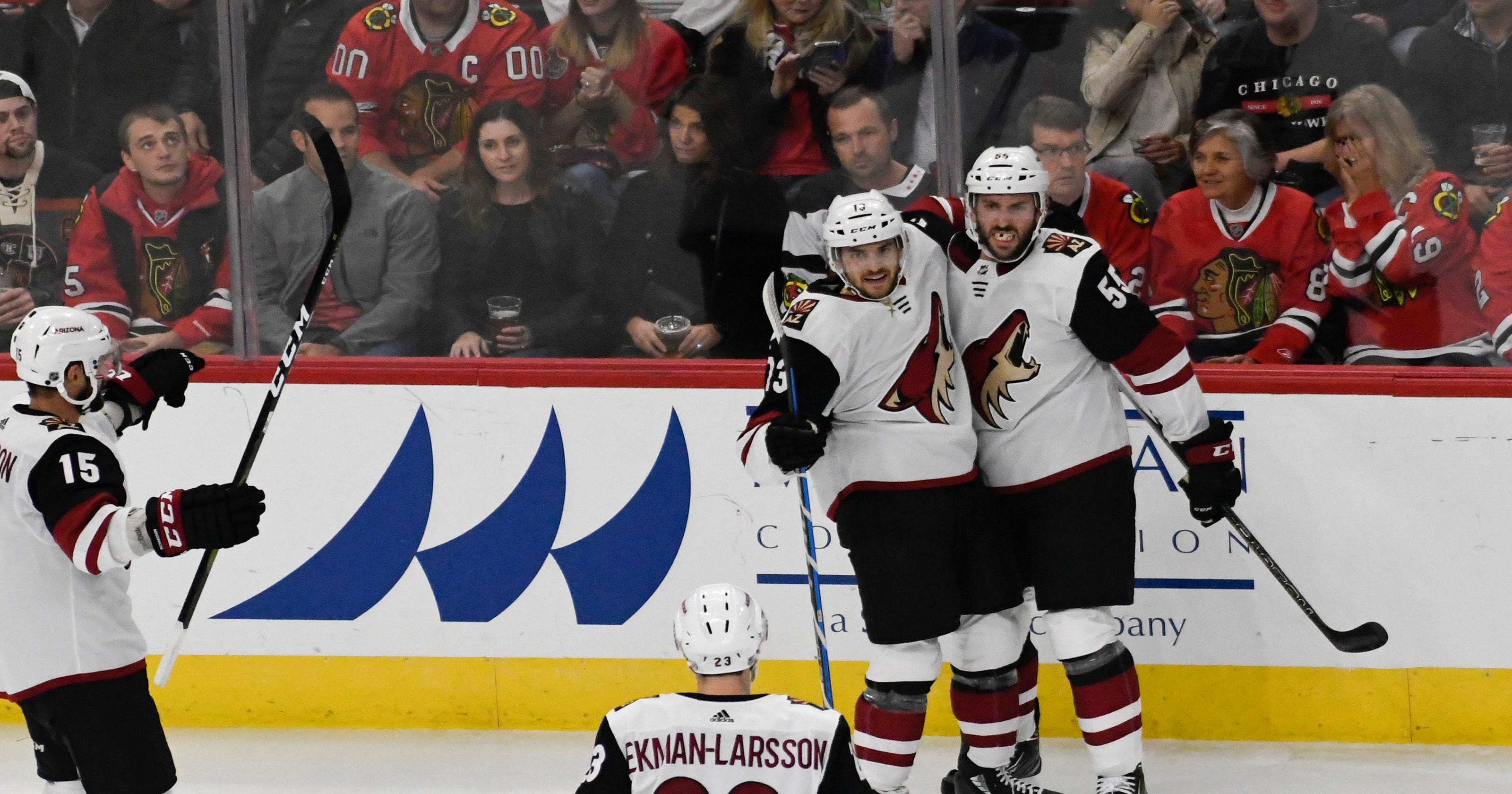 Hinostroza helps Coyotes beat Blackhawks 4-1 8f13dec11