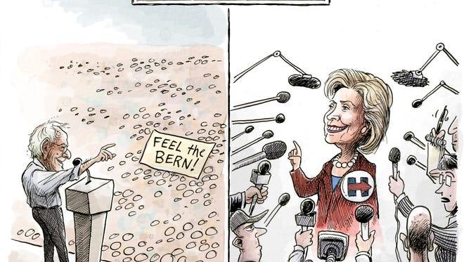 Democratic media coverage