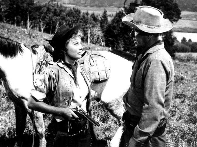 Cattle Queen Of Montana Year 1954 Director Allan Dwan Barbara Stanwyck Ronald Reagan