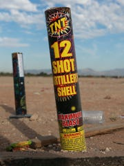 These are some of the fireworks left in a field at