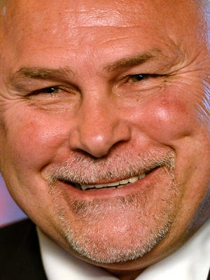 Barry Trotz smiles during the May 27 press conference introducing him as Washington Capitals coach.