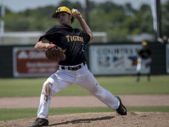 Neville High School pitcher Oliver Campbell signed