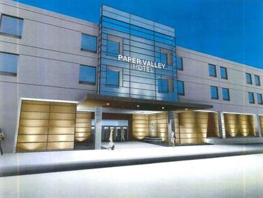 An artist's rendering shows what the new facade will