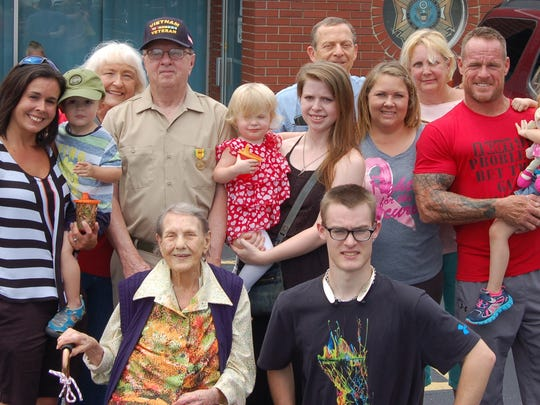 Five generations of Tom Cardwell's family attended Monday's welcome home ceremony at the VFW Post 3246 in Mountain Home. Cardwell said Monday's reception was quite different the one he originally received during the Vietnam War.