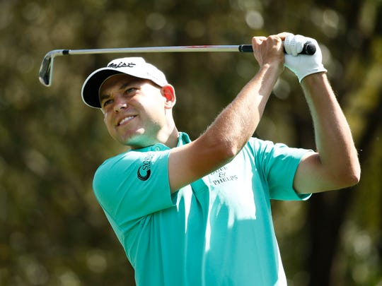 Mar 12, 2016; Palm Harbor, FL, USA; Bill Haas hits his drive on the 6th hole during the third round of the Valspar Championship at Innisbrook Resort - Copperhead Course. Mandatory Credit: Rob Schumacher-USA TODAY Sports