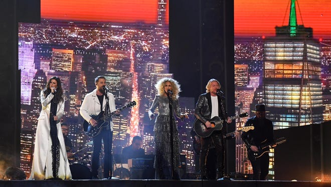 Little Big Town performs ÒBetter ManÓ during the 60th Annual Grammy Awards at Madison Square Garden.