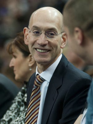 Adam Silver takes in a Kings-Raptors game on his first road trip as NBA Commissioner.