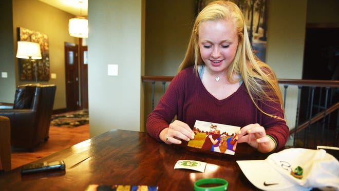 O'Gorman junior Carly Kunkel shares memories about her late father, Shawn Kunkel, Monday, June 11, at her home in Sioux Falls.