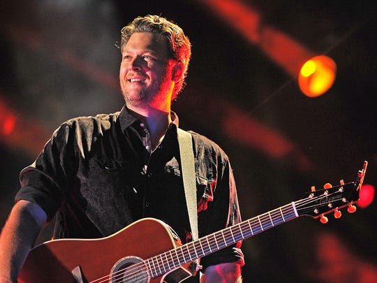 Blake Shelton performs at LP Field for the Friday night