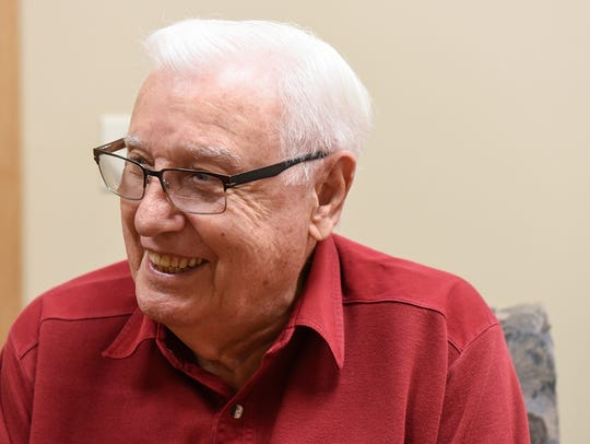 Bob Obermiller smiles during an interview Friday, May