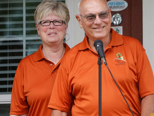 Dr. David Brown and wife, Linda, at the dedication