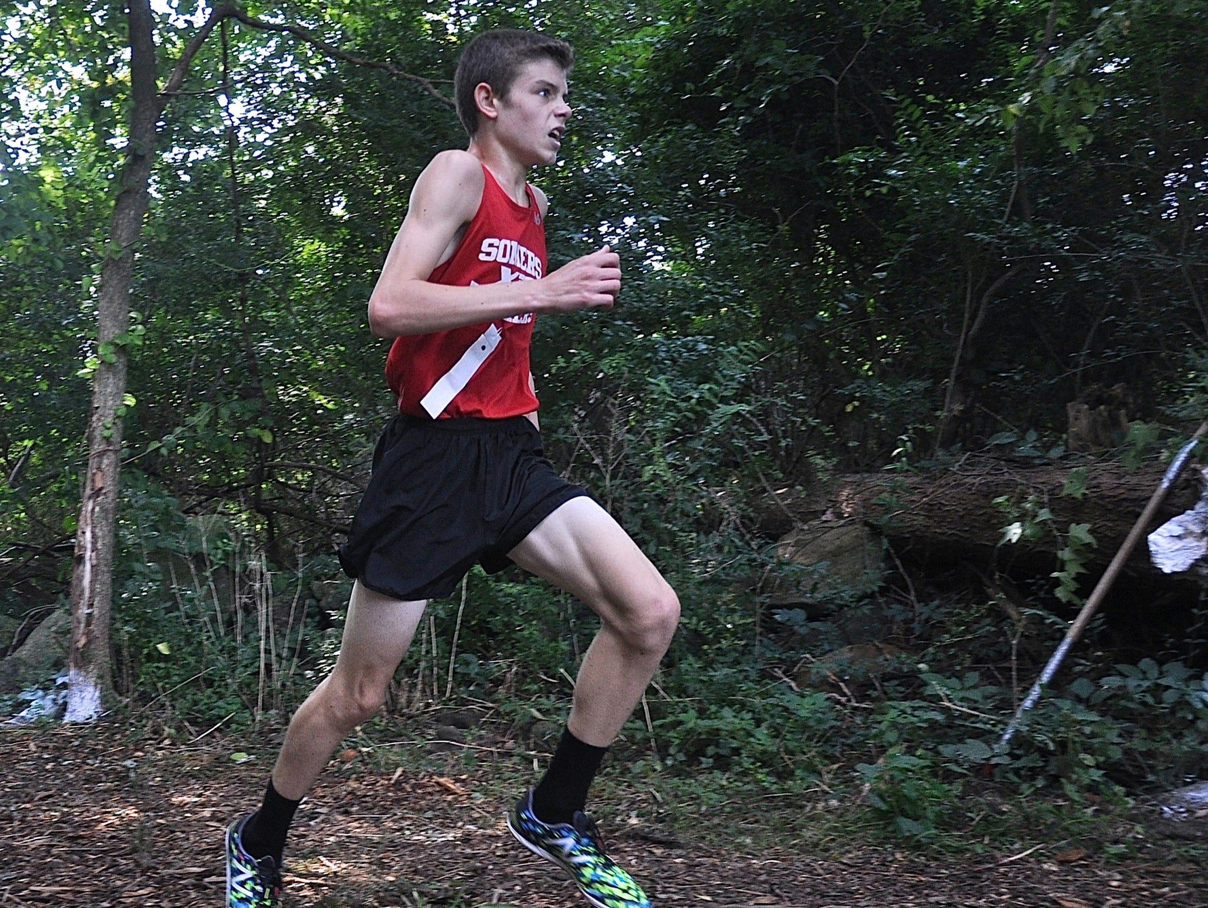 Matt Fusco of Somers en route to winning the 2016 Somers