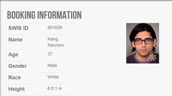 A mugshot and booking information for Navnoor Kang, a former manager for the NYS Common Retirement Fund who was arrested Wednesday in Portland on charges of fraud, conspiracy and obstruction of justice.