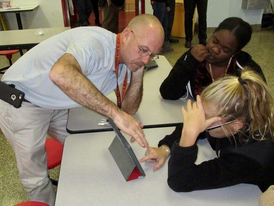 McManus Middle School teacher Howard Schulz working
