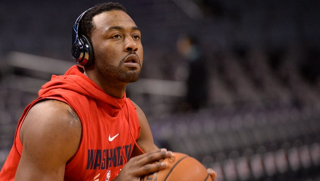 John Wall was one of the Wizards players who met with Stoneman Douglas students on Friday.