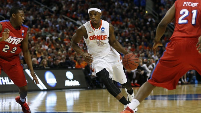 C.J. Fair of Syracuse. He signed with the Indiana Pacers.