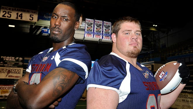 James Terry (L) and Cory Johnsen have been inducted into IFL Hall of Fame