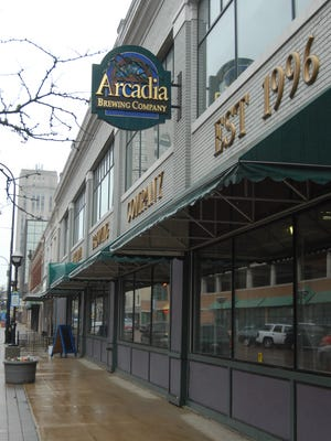 The familiar sign of Arcadia Brewing Company on Michigan Avenue in Battle Creek in 2009.