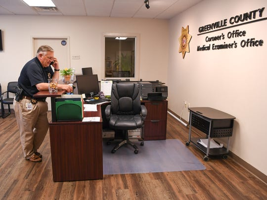 Greenville County Deputy Coroner Kent Dill talks on