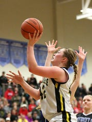 Cascade's Halle Wright is a finalist for the All-Mid-Valley girls basketball player of the year.