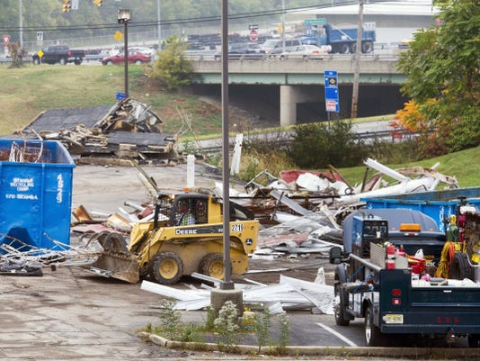The Budget Host Inn was torn down in October to make way for the Mount Rose interchange project. New entrance and exit ramps are slated to go through the area where the motel once stood.