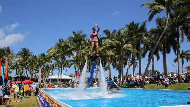 You never know what you'll see at the Palm Beach International Boat Show. The annual affair is growing and will launch Thursday along Flagler Drive in West Palm Beach. The show runs through March 25.