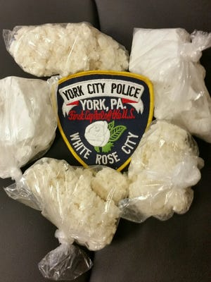 Police said they seized more than $400,000 of cocaine when they arrested two alleged drug dealers on April 27, 2016. (Photo courtesy of York City Police)