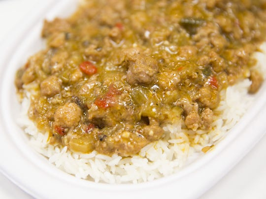 """The """"Talk About Good!"""" cookbook features recipes for many Cajun favorites, such as etouffee."""